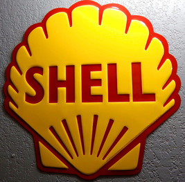Large Shell Reproduction Metal Sign