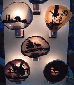 Silhouette Geode Night Lights