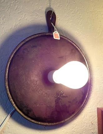 Edison Bulb Crepe Pan Wall Hanging