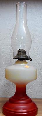 Retro Cream & Red Oil Lamp