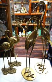 Vintage Brass Flamingo & Heron Sets