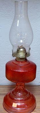 Retro Translucent Red Oil Lamp