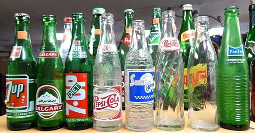 Various Vintage Pop Bottles