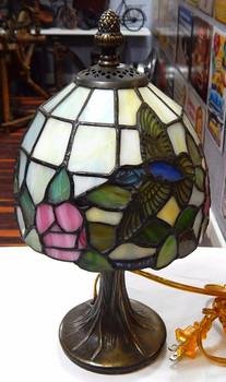 Small Tiffany Style Hummingbird Lamp
