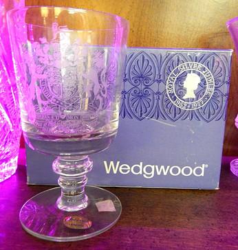 Wedgwood Royal Silver Jubilee Crystal Goblet