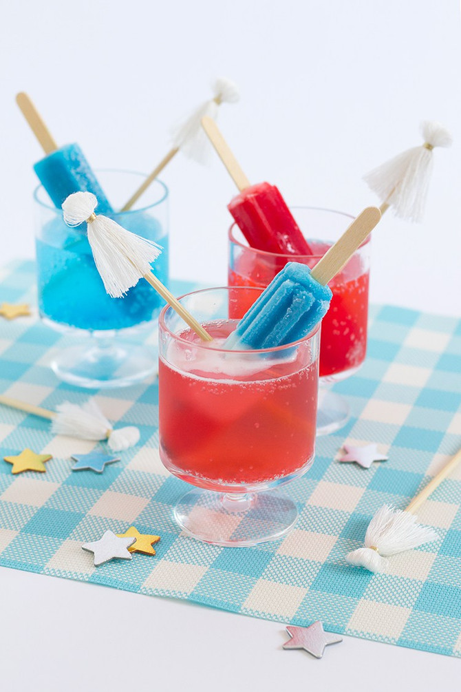 RED, WHITE & BLUE COCKTAILS