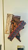 Rock climbing rope art book shelf