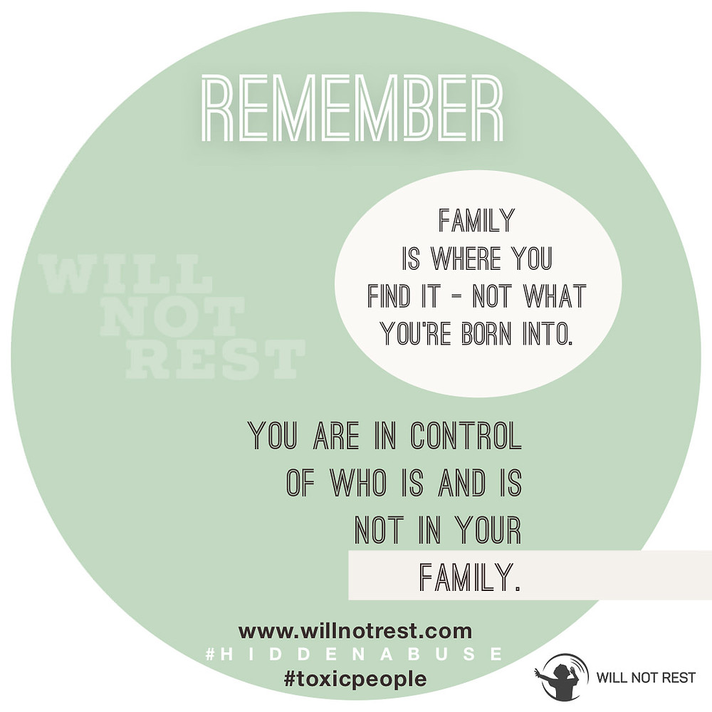 Will Not Rest | Toxic Family | Hidden Abuse