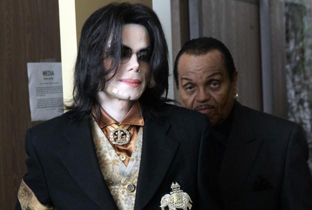 Michael Jackson and his father, Joseph Jackson