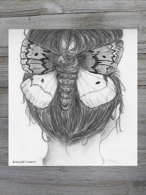 A Girl with a Moth in Her Hair