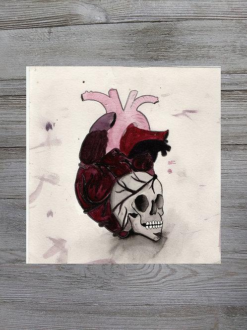 Heart-Skull (Painted)