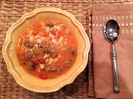 Tuscan Sausage & White Bean Soup