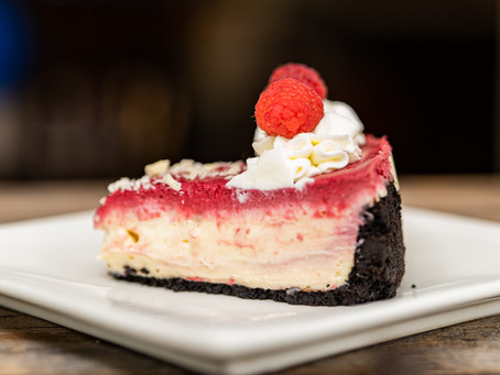 Raspberry White Chocolate Cheesecake