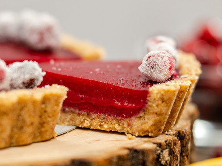 Cranberry-Orange Walnut Tart