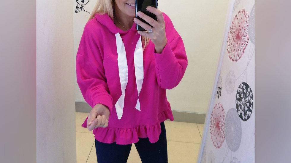 Pink Frill Hoodie