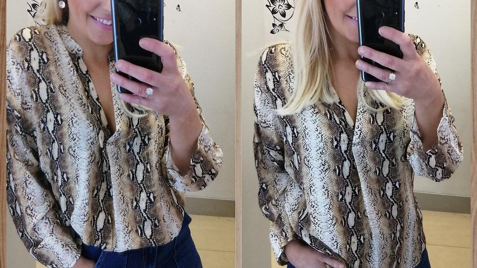 Leopard mix shirt