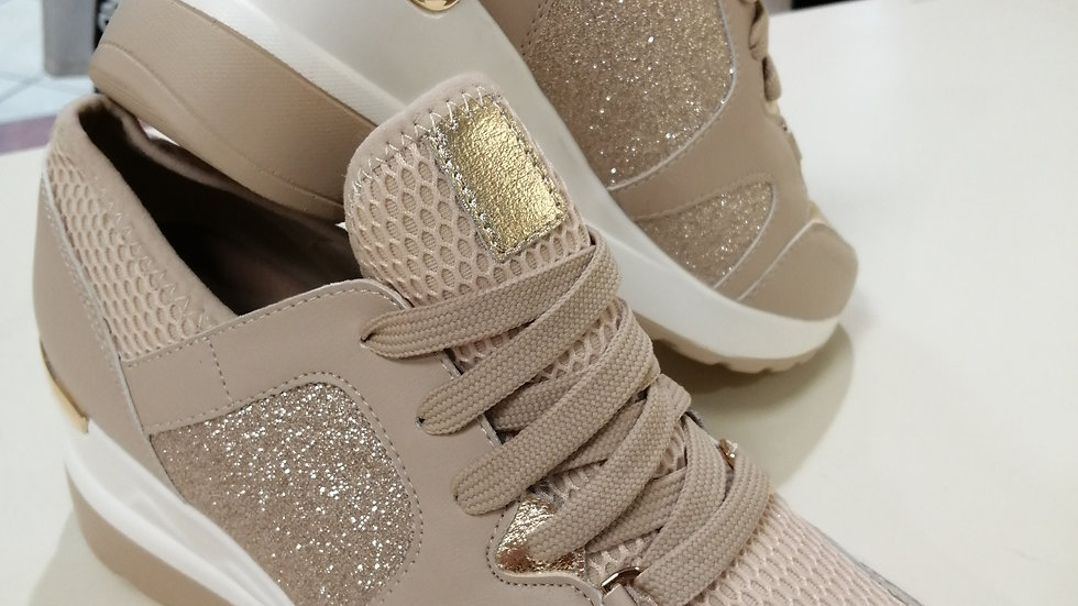 Beige gold mix Trainers