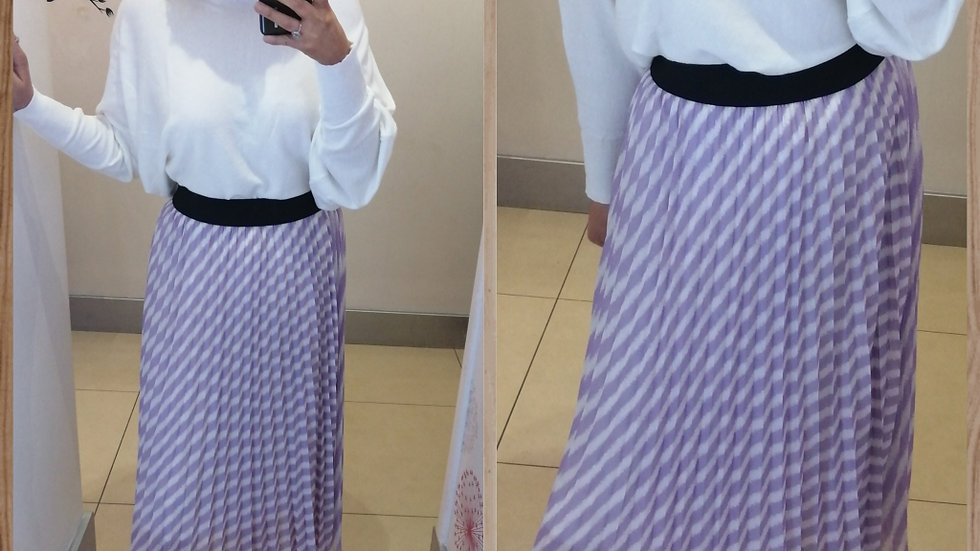 Lilac Striped Skirt