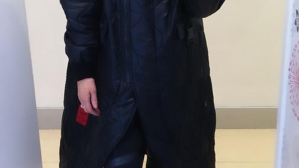 Sheeba Quilted coat Black