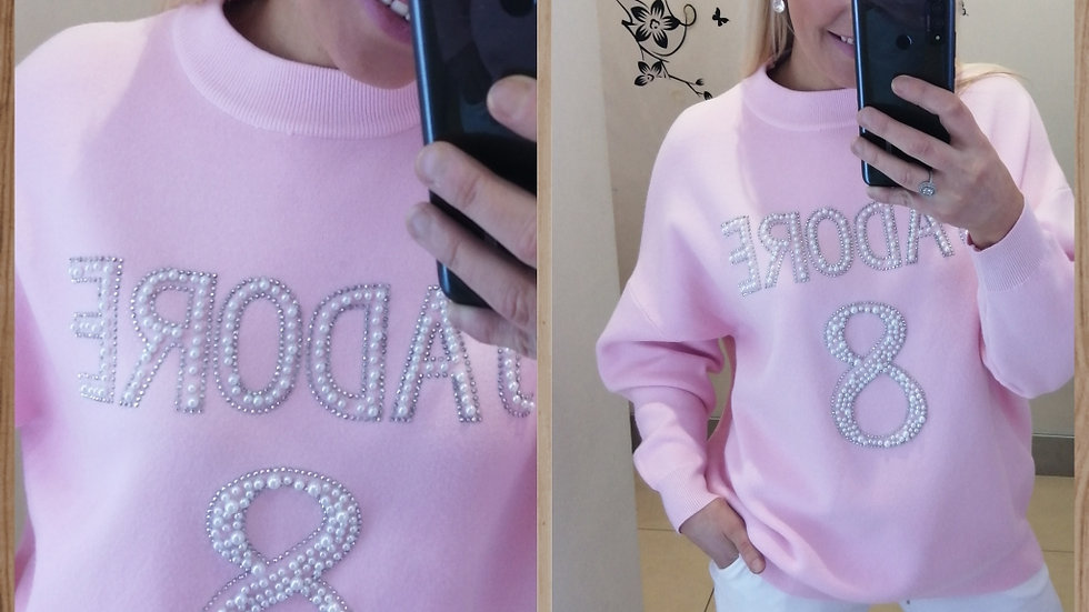 Candy floss pink jadore jumper