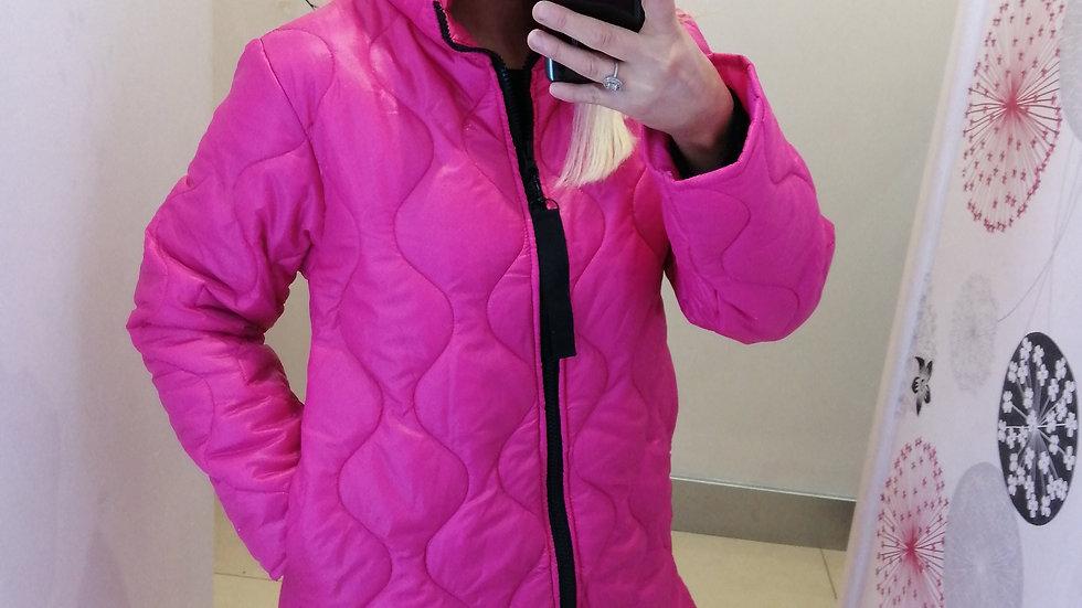Cerise puffer coat