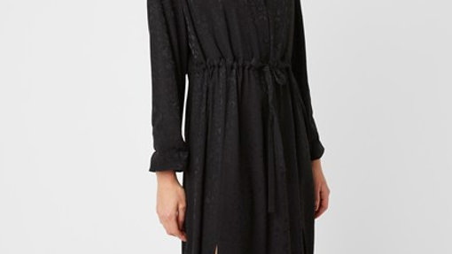 Embossed Black Dress