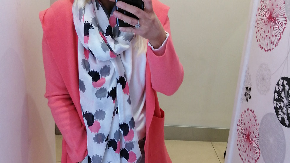 Coral mix scarf