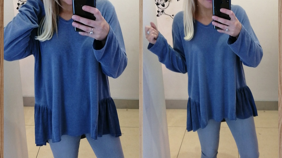 Denim blue tunic