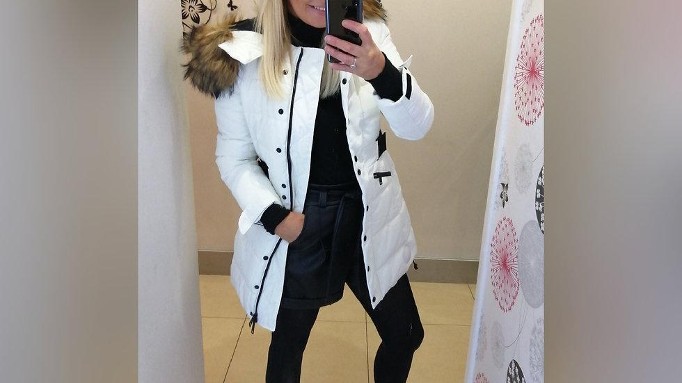 White Black trim Coat