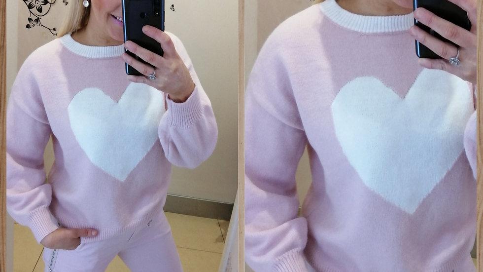 Heart pink jumper