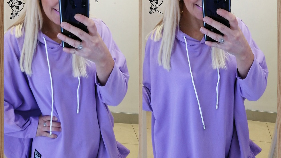 Lilac frill Hoodie