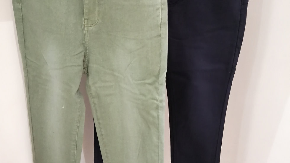 Toxiq Jeans  Navy and green
