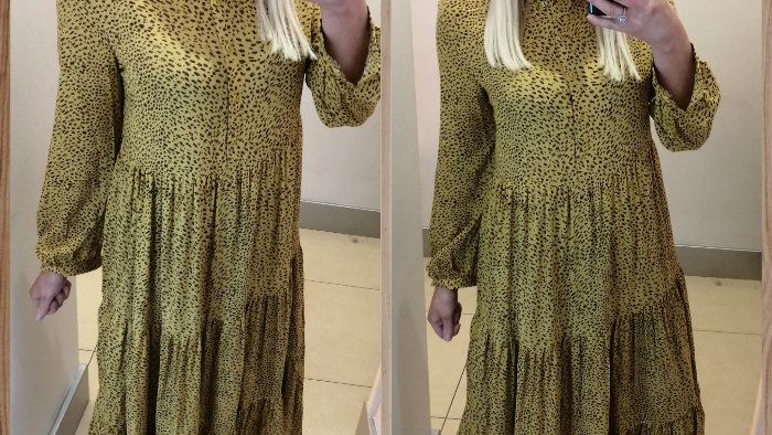 Mustard fleck mix dress