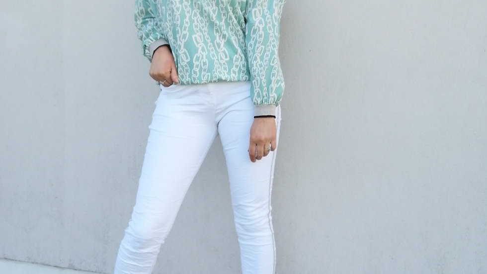 Chain mail mint top
