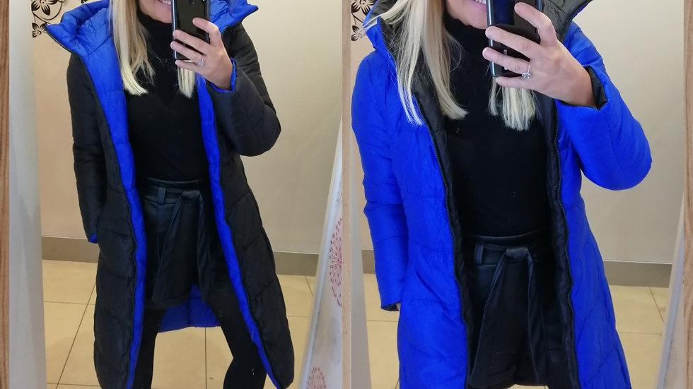 Reversable coat Blue Black