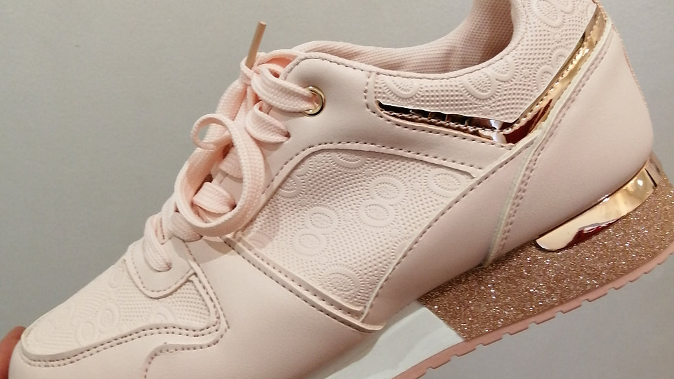 Blush Rose gold Trainers