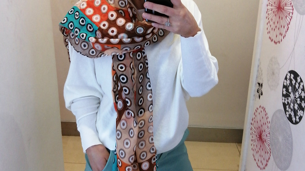 Orange turquise mix Scarf