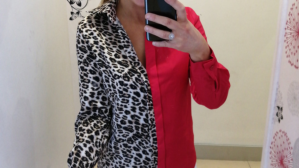 Red Leopard mix shirt