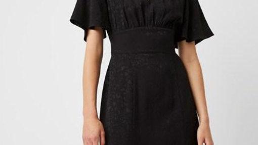 Embossed split Dress