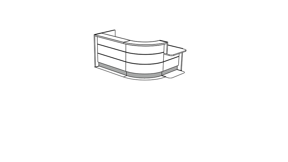 VALDE Reception Desk LAV1411L