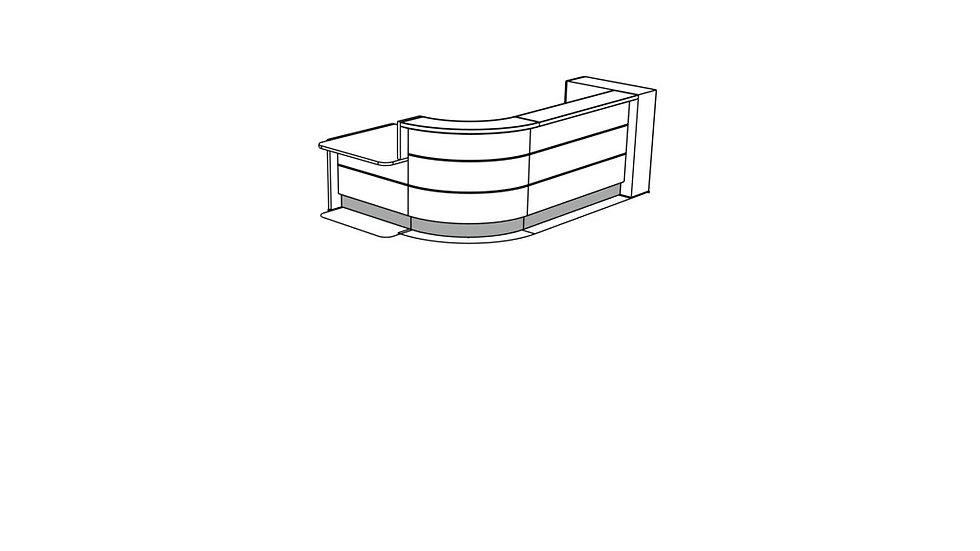 VALDE Reception Desk LAV157L