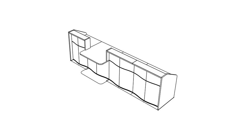 """WAVE Reception Desk LUV34 - 146 2/8"""""""