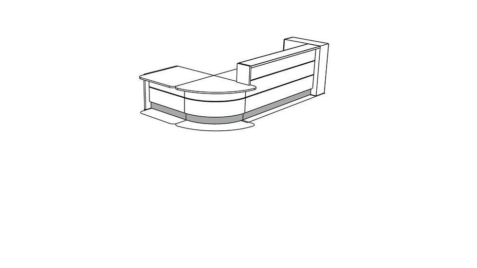 VALDE Reception Desk LAV129L