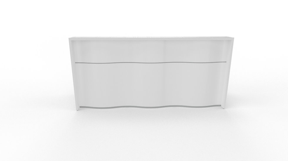 "WAVE Reception Desk LUV15 - 90 3/4"" Length"