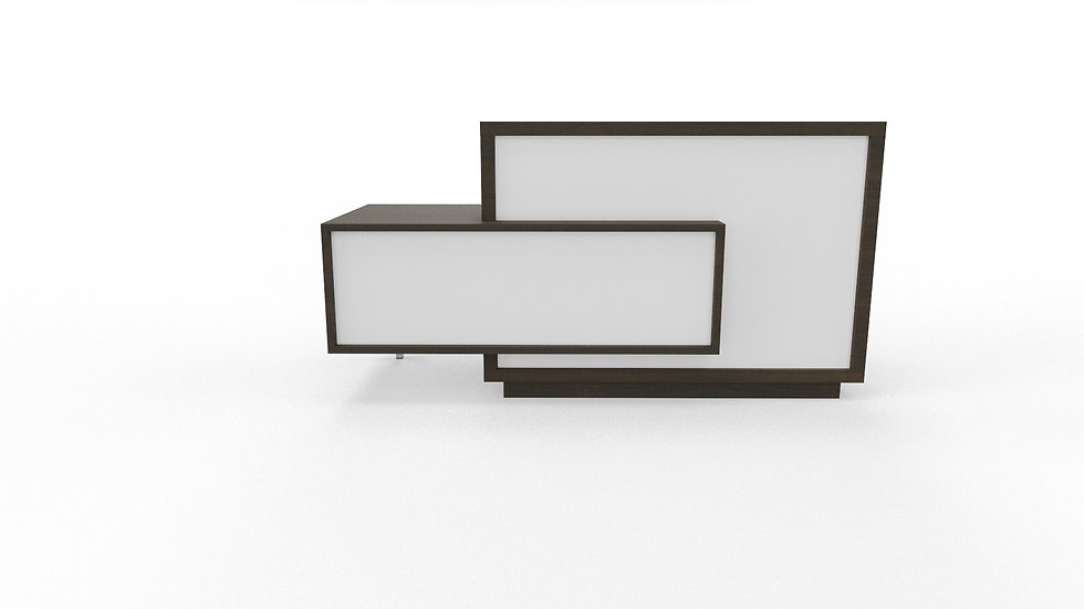 FORO Reception Desk LF11 - Chestnut Frame