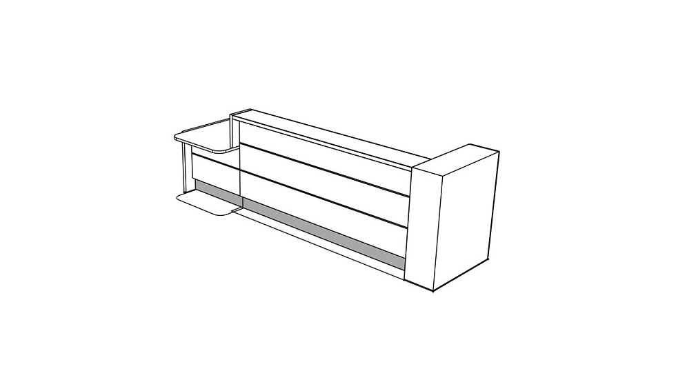 VALDE Reception Desk LAV461L - 135 5/8""