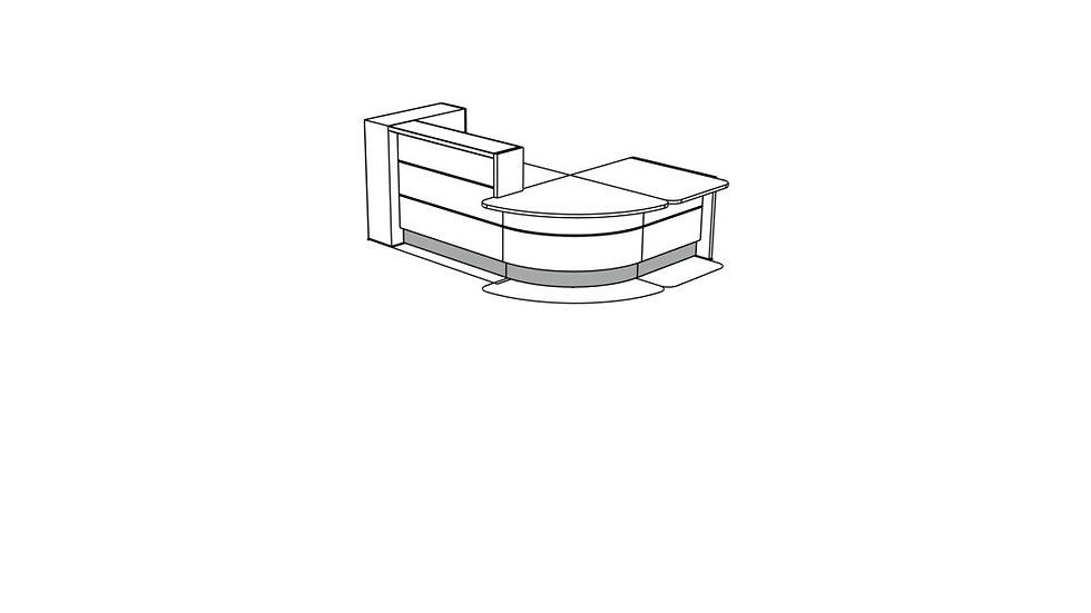 VALDE Reception Desk LAV1261L