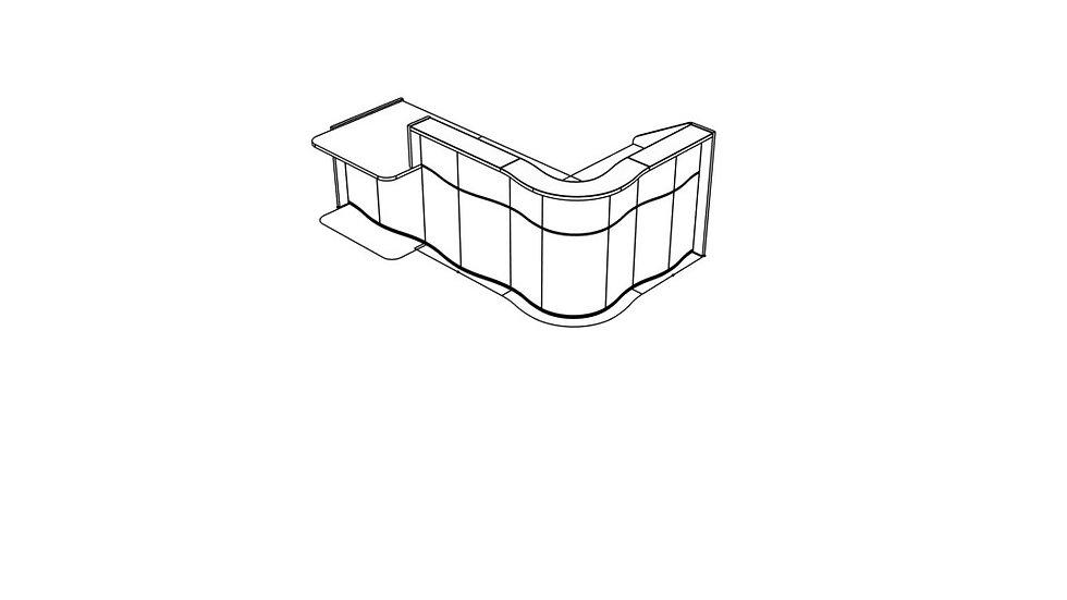 """WAVE Reception Desk LUV40P - 109 4/8"""""""