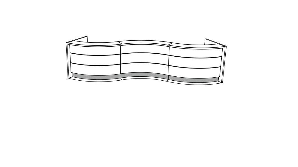 """VALDE Reception Desk LAV50L - 179 6/8"""""""