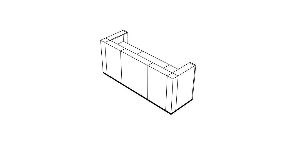 """TERA Reception Desk TRA122 - 103 7/8"""""""
